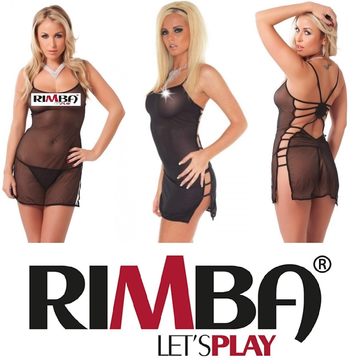 a6ad5572851df 'Amorable' by Rimba Lingerie See Thru Sexy Spider Nightdress & G-String  (R1768)[UK 8-14]
